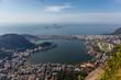 Quadro View on the city lake and ocean coast of Rio de Janeiro