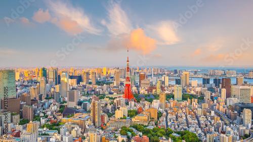 Fotobehang Tokio Tokyo skyline with Tokyo Tower in Japan
