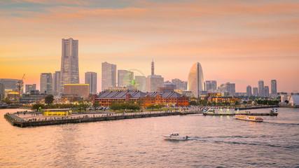 Cityscape of  Yokohama in Japan