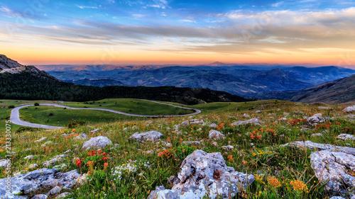 Fotobehang Beige Sicilian Highlands in Italy, Europe