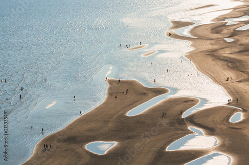 Aerial view of beach and sea - 213335491