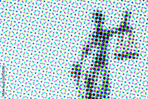 Fototapeta Abstract halftone artistic background
