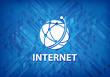 Internet (global network icon) blue background
