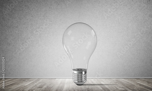 Foto Murales Concept of lightbulb as symbol of new idea.