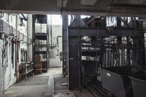 Foto Murales Industrial building interior
