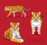 Panthera Tiger Cartoon Vector Illustration