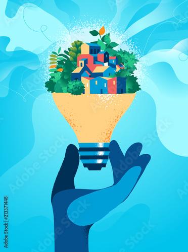 Poster Idee per una società sostenibile
