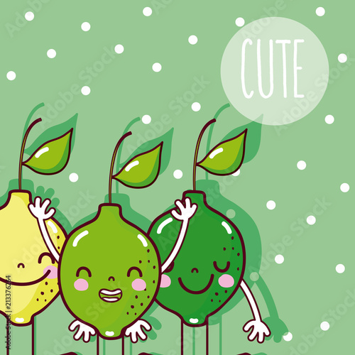 Cute lemons fruits - 213376264