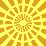Sunburst background in yellow and brown - 213382075