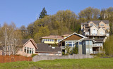 Residential houses on a hill Clackamas Oregon. - 213397859