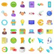 Connect internet icons set. Cartoon style of 36 connect internet vector icons for web isolated on white background