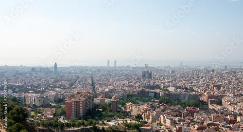 Canvas Barcelona Panoramic of Barcelona