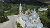 View of  white-stone Orthodox church of Life-Giving Trinity in Gus-Zhelezny, Ryazan region, Russia - 213419811