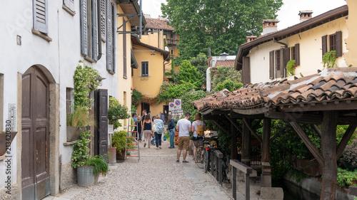 Aluminium Smalle straatjes Italy Navigli