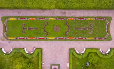 Kadriorg Park Tallinn, Estonia from Air Aerial, flowers