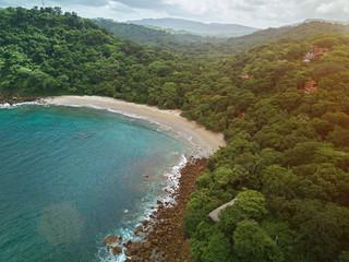 Aquawellness bay aerial drone view