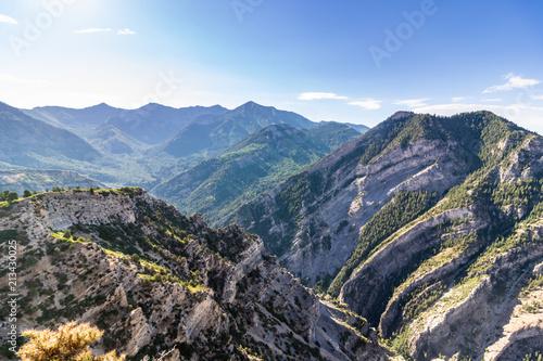 Fototapeta Beautiful view from mountain peak in Utah