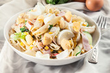 Macaroni salad with ham and other - 213445489