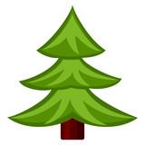 Colorful cartoon fir tree.