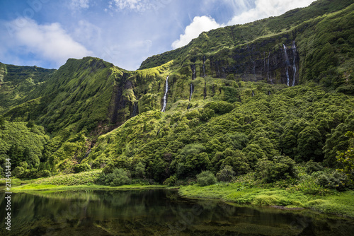 Poco da Ribeira do Ferreiro, Flores island, Azores, Portugal. - 213451434