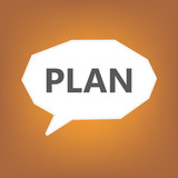 plan written on speech bubble- vector illustration - 213456890