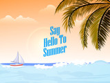 nice and beautiful abstarct or poster for Summer Party or Beach Party or Summer Holiday with nice and creative design illustration. - 213465812
