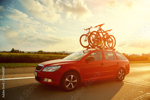 bikes on a trunk - 213466087