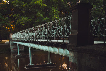 decorative bridge over the river © Crisp