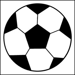 Pattern with a soccer balls in a black - white colors.