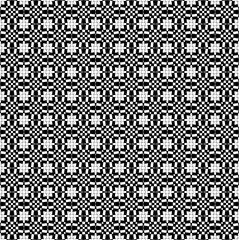 Seamless geometric pattern in small cage in black and white