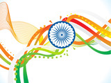 abstract artistic creative indian wave background - 213473670