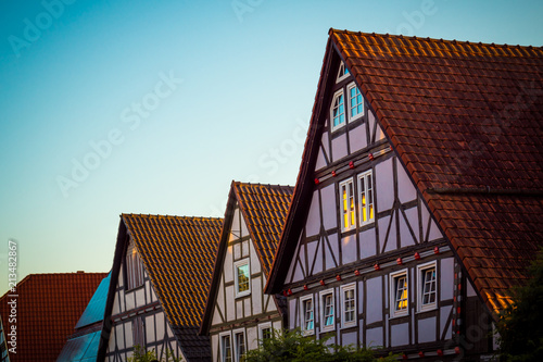 Foto Murales Residential buildings in old German style