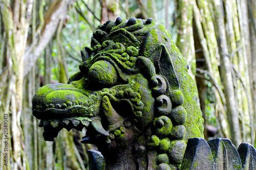 Plexiglas Bali Dragon Head in Ubud Stone Forest - Bali - Indonesia