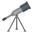 Vector Color Flat Icon - Astronomical Telescope