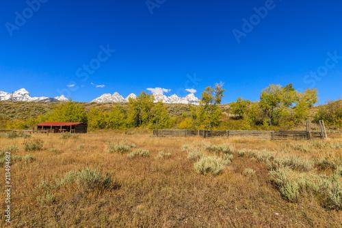 Poster Scenic tetons Autumn Landscape