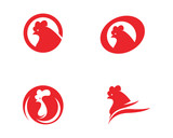 Rooster Logo Template vector icon