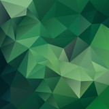 vector abstract irregular polygonal square background - triangle low poly pattern - medium green color - 213503808