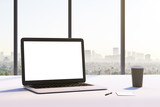 mockup white laptop screen - 213507209