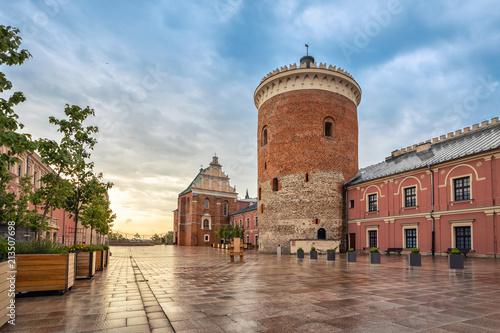Zdjęcia na płótnie, fototapety na wymiar, obrazy na ścianę : Romanesque castle tower in Lublin, Poland
