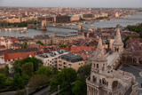 Budapest's panorama a Buda one is famous for a hotel's roof taking a photo