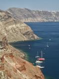 Caldera sea view at Oia, Santorini, Greece - 213512642