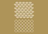 Japanese circle vector pattern. Wave pattern. Sea japan pattern vector - 213515628