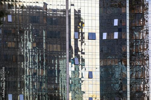 Foto Murales blue windows of a skyscraper