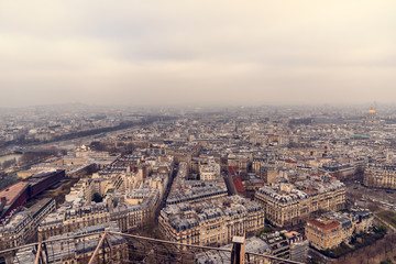 Paris cityscape view from Eiffel Tower. © SergeyGrin