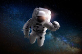 Astronaut or Spaceman floating in the space. Elements of this image provided by NASA - 213541842