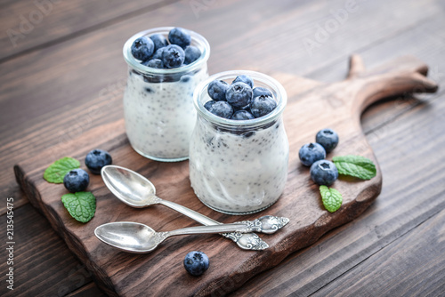 Foto Murales Healthy breakfast or morning snack with chia seeds