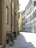 Typical italian street - Lucca - Tuscany - Italy