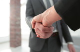 Business executives to congratulate the joint business agreement - 213553243