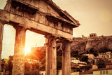 Roman Agora at sunset in summer, Athens, Greece - 213554621