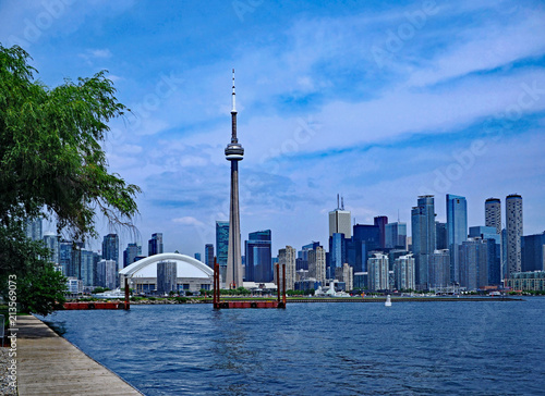 Canvas Toronto Toronto downtown waterfront skyline as of July 2018 viewed from the Island..